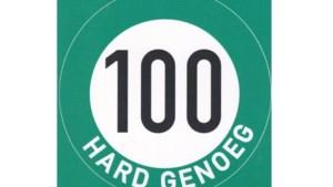 Sticker Milieudefensie Meerssen: '100 hard genoeg'