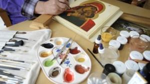 Iconen schilderen bij Museum de Schat van Simpelveld