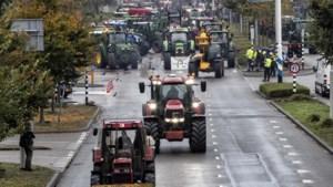 In beeld: Limburgse boeren demonstreren tegen de beleidsregels over stikstof