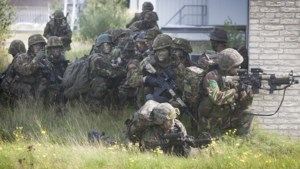 Militaire oefening in Eijsden