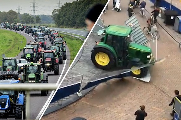 Eigenaar door trekker omvergereden hekken doet geen aangifte 'uit sympathie voor de boeren'