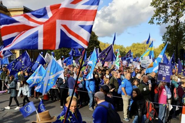 Tienduizenden betogers eisen referendum