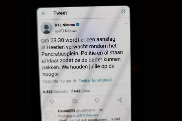 Politie waarschuwt voor nepnieuws over aanslag in Heerlen
