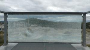 Glasplaat uitkijkplatform ENCI-groeve voor vierde keer vernield