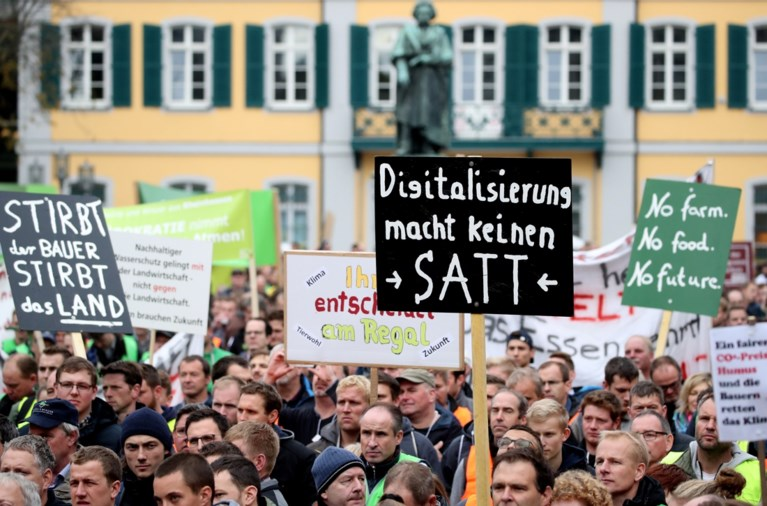Ook Duitse boeren protesteren massaal