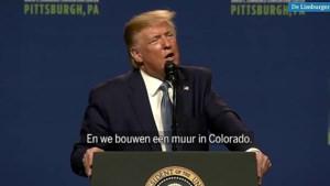 Video: Trump blundert met belofte 'grensmuur' in Colorado