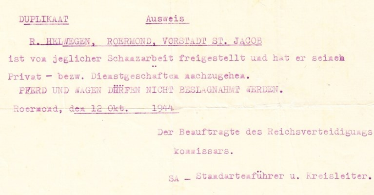 Roermond als frontstad (deel 8) - Razzia's in oktober 1944