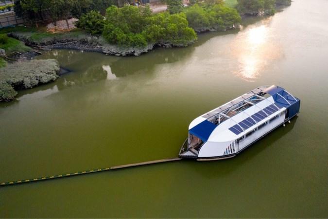 Nieuw mega-apparaat onthuld om rivieren 'plasticvrij' te maken
