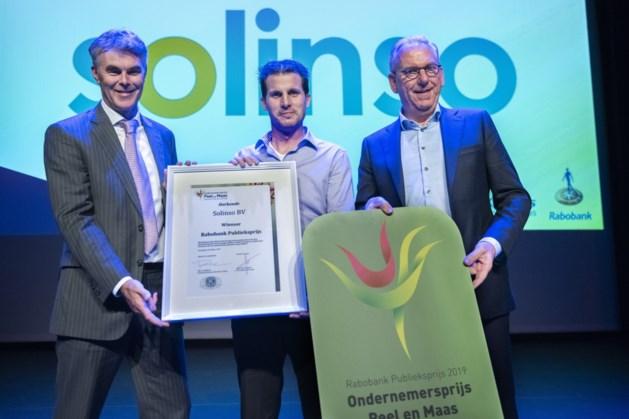 Solinso BV wint publieks- en Ondernemersprijs Peel en Maas