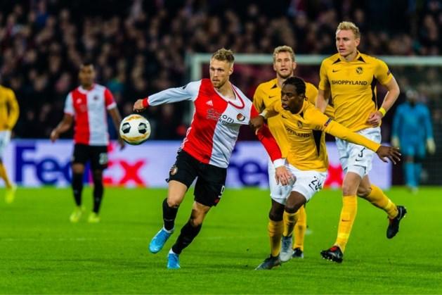 Knokkend Feyenoord komt niet verder dan remise tegen Young Boys