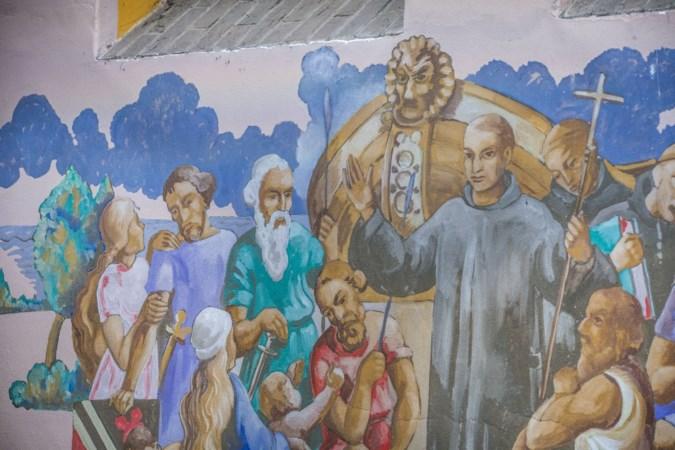 Kerk van Hegelsom heeft 75 jaar na de bevrijding nog steeds Hitler op de muur