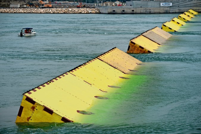 De dam die Venetië moest beschermen