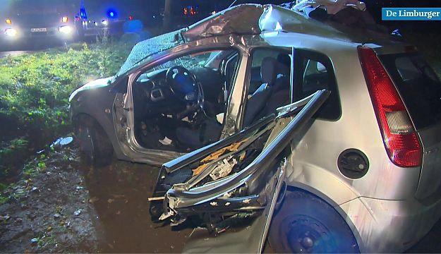 Video: Man komt om het leven bij crash tegen boom en kind (1) ernstig gewond - De Limburger