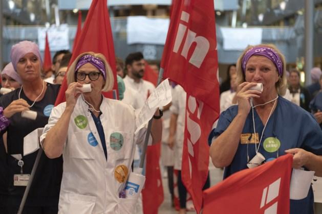 Ziekenhuismedewerkers leggen werk neer