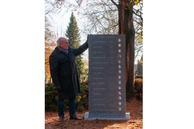 Herdenkingssteen voor veertien gefusilleerden op Oude Kerkhof in Roermond