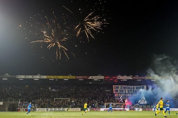 Stadionverboden voor PEC-fans die vuurwerk gooiden tijdens wedstrijd tegen Fortuna