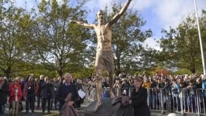 Fans Malmö steken standbeeld Zlatan in de fik