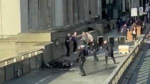 'Adembenemend heldendom': Aanvaller Londen door stadsgidsen en moordenaar op verlof gestopt