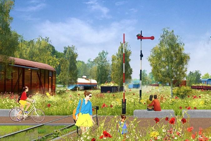 Vervlogen tijden rond station van Simpelveld moeten herleven in een zee van bloemen