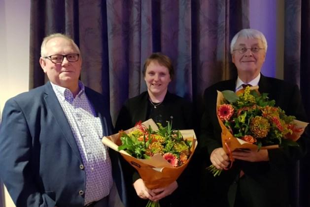 Fanfare Wilhelmina Vlodrop huldigt jubilarissen tijdens Caeciliafeest