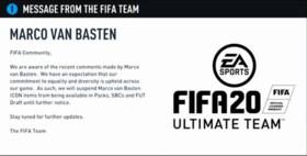 EA Sports haalt Van Basten uit FIFA 20 na Hitlergroet