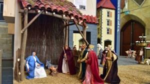 Kerststallendorp in kerk Schimmert