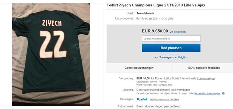 'Shirt Ziyech verkocht? Nee, iemand deed zich voor als mijn vader'