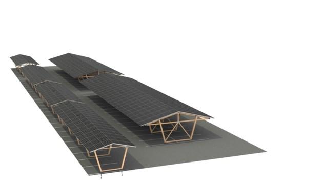 Parkeerterrein De Pelen wordt overdekt met zonnepanelen