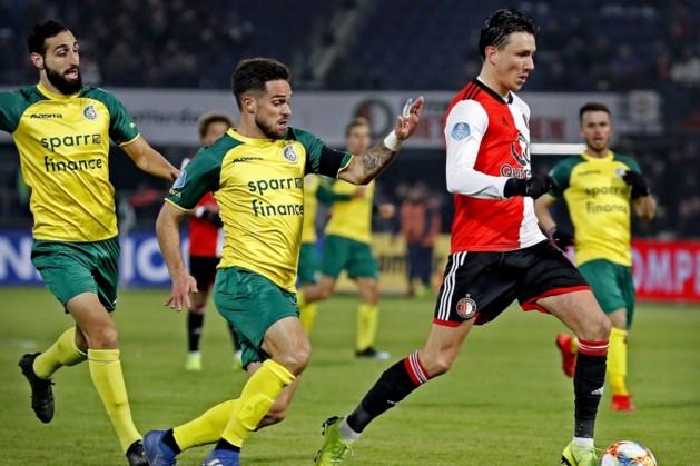 Bekerwedstrijd Fortuna Sittard - Feyenoord op dinsdag 21 januari