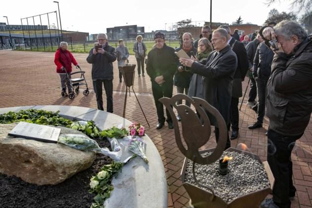 Monument onthuld in Maasbracht ter nagedachtenis aan Gerard Mestrom, die in 1944 werd vermoord