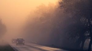 Code geel vanwege dichte mist