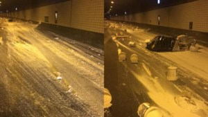 Ravage door afgevallen lading: Roertunnel blijft lange tijd dicht