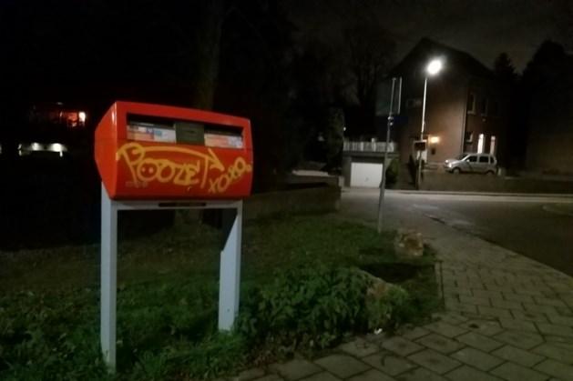 Graffitispoor door dorpskern van Eys