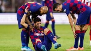 Barcelona vier maanden zonder spits Suárez