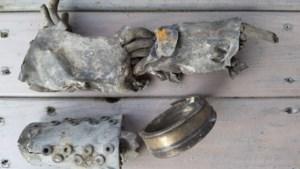 Wrakdelen Britse bommenwerper Short Stirling in permanente expositie Nederweert