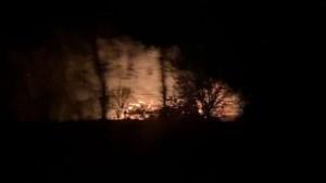 Asbest vrijgekomen bij afgebrande hooischuur in Kerkrade
