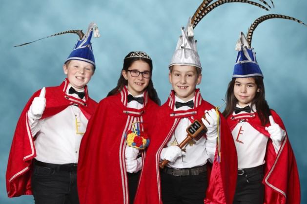 Kinderkwartet Plaggenhouwers aangevoerd door prins Joris en prinses Juul