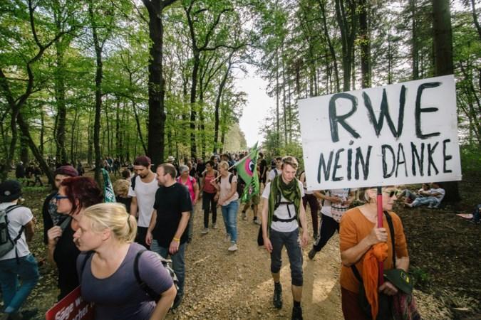 Hambacher bos wordt na kolenakkoord een schiereiland in de bruinkoolmijn