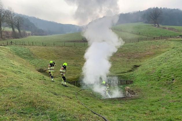 Brandweer rukt uit voor brandje onder weiland in Stokhem