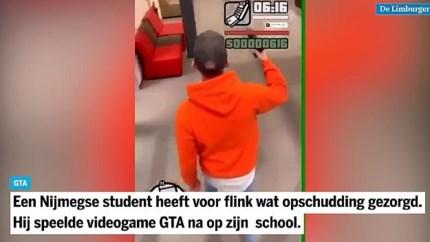 Video: Student speelt met nepwapen populair schietspel na, opgepakt en school ontruimd