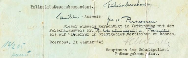 Evacuatie van Roermond in november '44