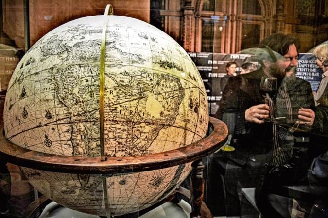 Russen herstellen globe van cartograaf Blaeu