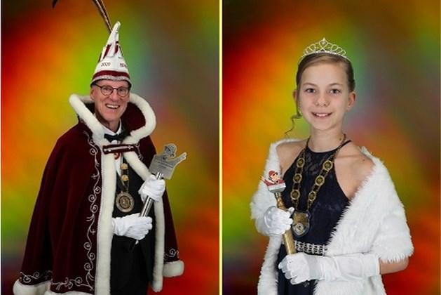 Prins Berry I en jeugdprinses Hayley I regeren bij CV De Kempernaaze Sittard