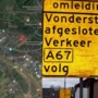 Foutje: omleidingsbord geeft verkeerde snelweg aan
