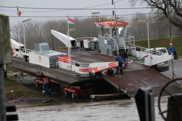 Veerpont tussen Berg aan de Maas en Meeswijk uit de vaart
