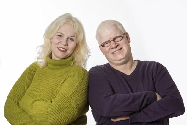 Karen en Freek Slangen (50) uit Venlo hebben albinisme