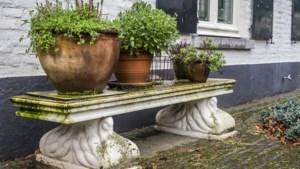 Roermondse bankjes van kunstenaar Dolf Wong in Blerickse tuin