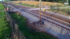 Video: ProRail toont heftige beelden van bijna-ongelukken op spoor