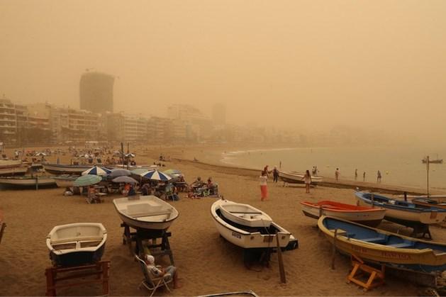 Zandstorm zorgt voor problemen op Canarische Eilanden