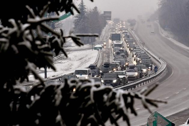 Dit weekend erg veel drukte op de wegen naar de wintersport